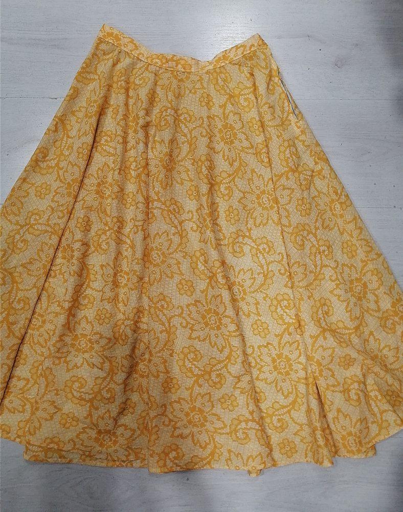 MINTLIMIT stampa floreale Gonna a pieghe vintage anni 50 con tasche e cintura stile retr/ò